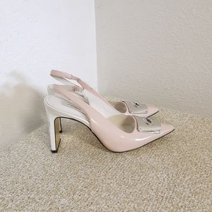 Coach NY Pink And White Slingback Shoes